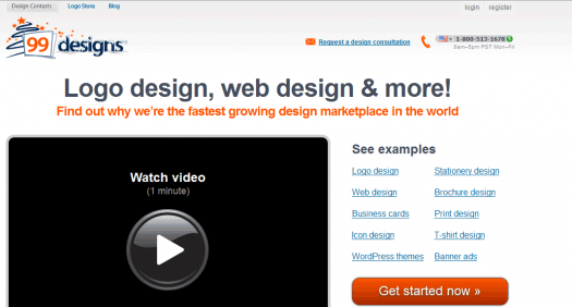 99 Designs is one of the better crowd-sourcing sites out there.