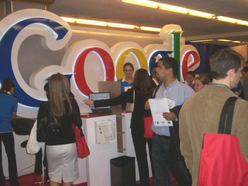 Around the Adtech Google booth