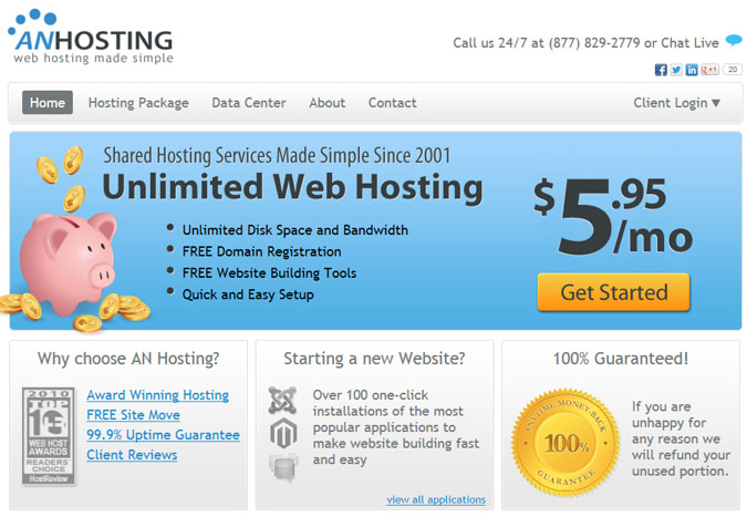 AN Hosting Website