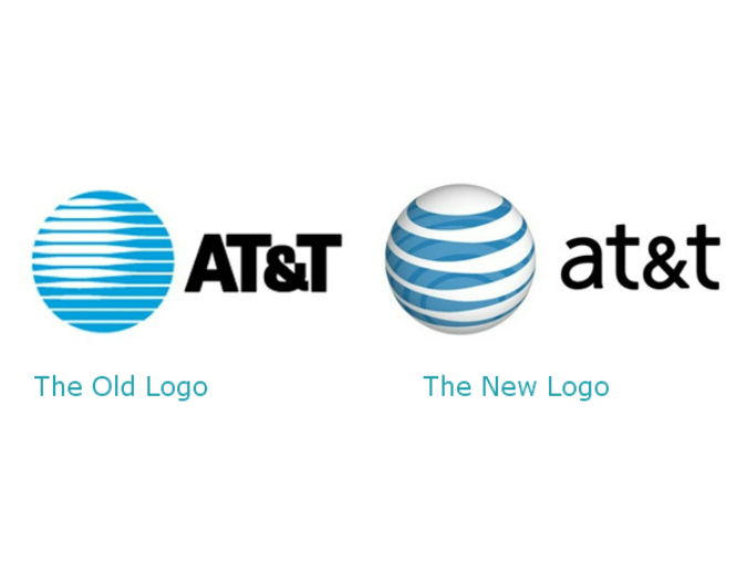 AT&T Logos, old and new