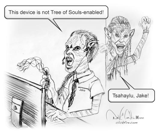 Avatar Cartoon: This device is not Tree of Souls-enabled
