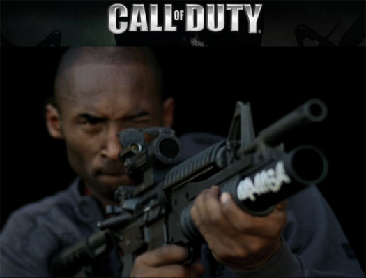 Kobe Bryant in the Call of Duty: Black Ops TV Commercial
