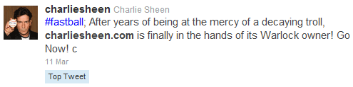 Charlie Sheen Tweets
