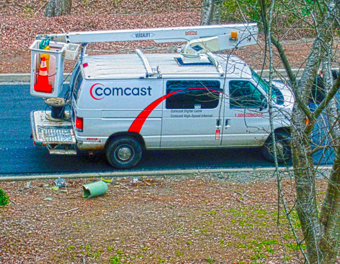 Comcast Truck Outside my Condo