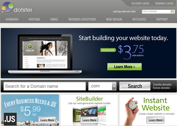 Dotster Website