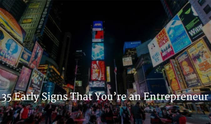Early Signs You're an Entrepreneur in Times Square