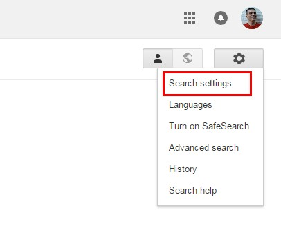 google serps settings