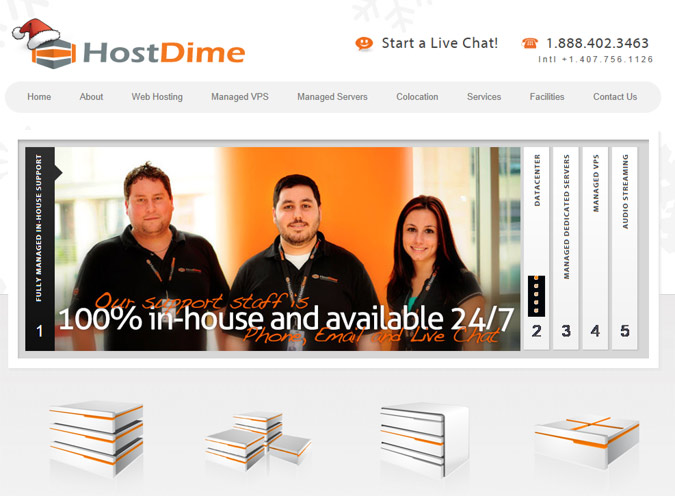 HostDime Screen Cap