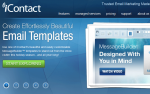 iContact&#039;s main page is attractive - and they want your emails to be, too.