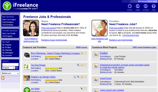 iFreelance.com doesn't look to shabby, and the services live up to the eye candy.