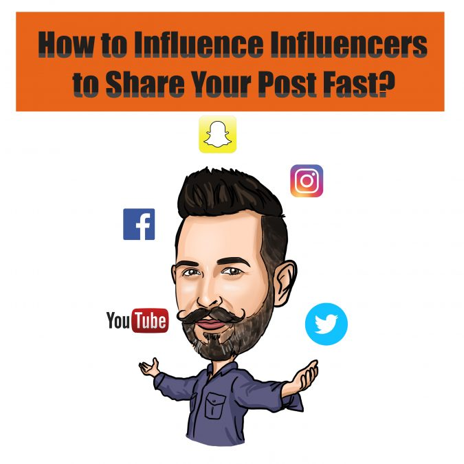 Influencer marketing for shares