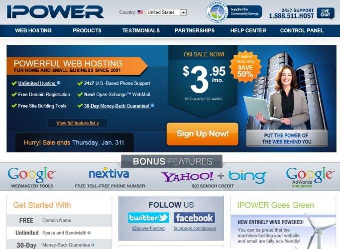 IPOWER Web Hosing Site