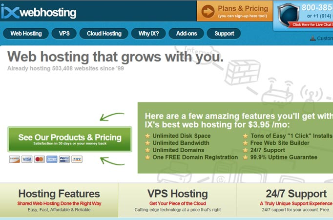 IX Web Hosting Site