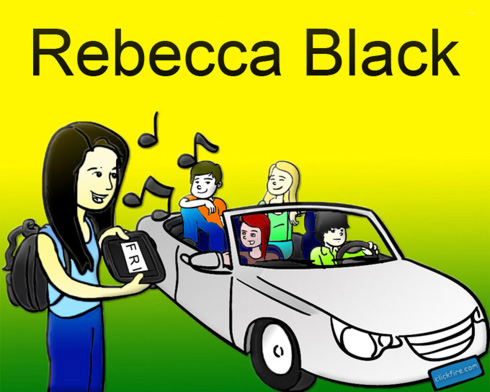 Rebecca Black Cartoon