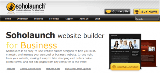 Soholaunch is an intriguing, if ultimately disappointing, web site builder.