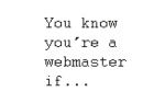 You know you're a webmaster if...