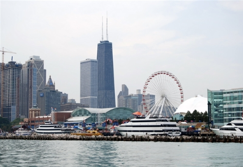 HostingCon Navy Pier and Chicago skyline